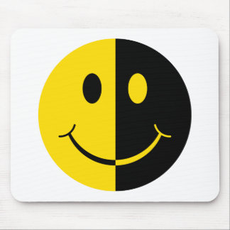 Two Faced Smiley Face Mouse Pad