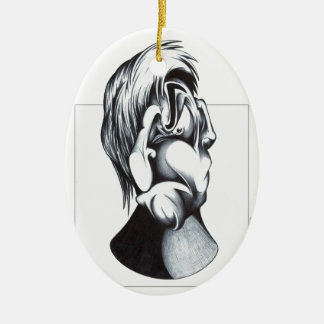 Two Faces of Grief Ceramic Oval Decoration