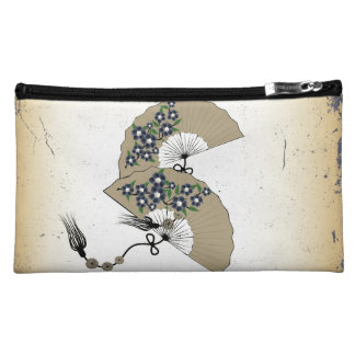 Two fans grunge cosmetic bag