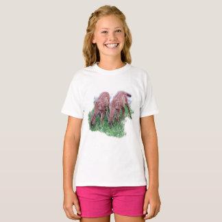 Two fawns grazing T-Shirt