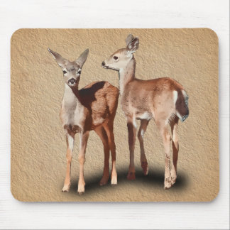 TWO FAWNS MOUSE PAD