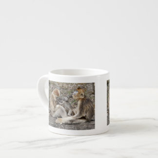 Two female Golden Monkeys with newborns Espresso Cup