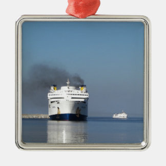Two Ferries In Greece Christmas Ornament