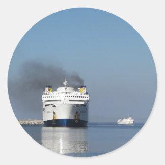 Two Ferries In Greece Sticker