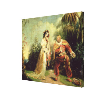 Two figures in Turkish costume in an Eastern lands Canvas Print