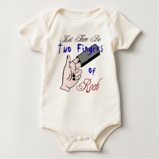 Two Fingers Baby Action! Baby Bodysuit