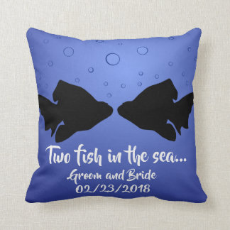 """Two fish in the sea"" decorative pillow"