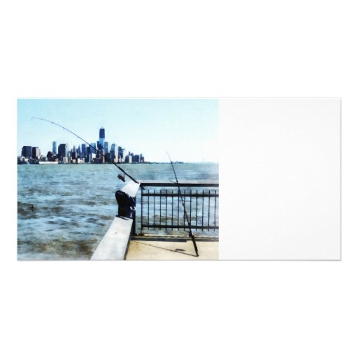 Two Fishing Poles Photo Cards