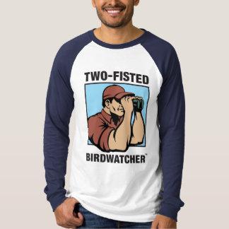 Two-Fisted Birdwatcher Long Sleeve Raglan Shirts