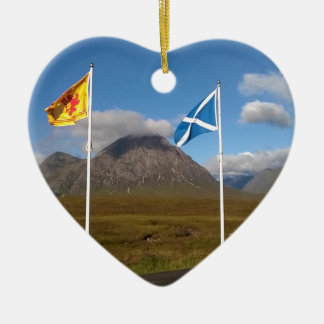 two flags of Scotland Christmas Ornament