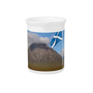 two flags of Scotland Pitcher