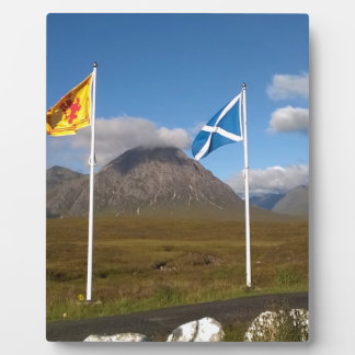 two flags of Scotland Plaque