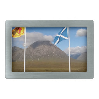 two flags of Scotland Rectangular Belt Buckle