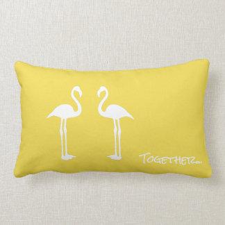 Two Flamingo Birds Together Throw Pillow