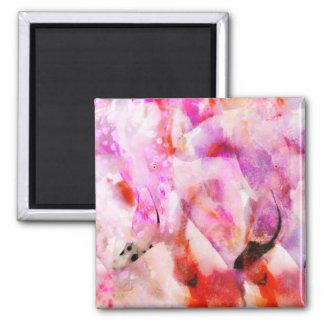 Two Flamingos Square Magnet