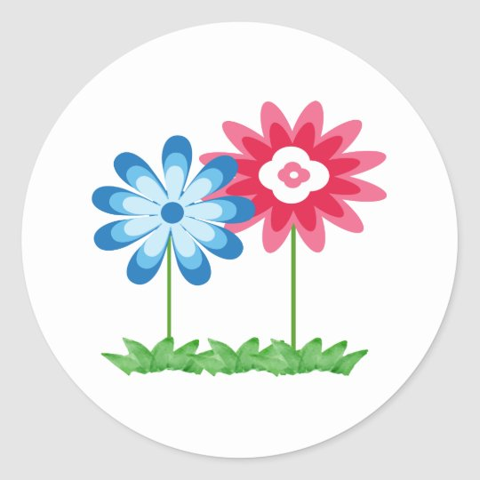 Two Flower Sticker