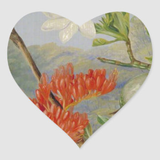 Two Flowering Shrubs of Natal and a Trogon Heart Sticker