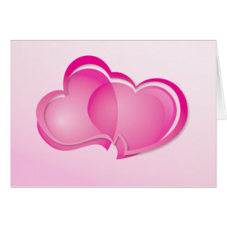 Two Flowing Hearts Card