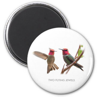 TWO FLYING JEWELS REFRIGERATOR MAGNETS
