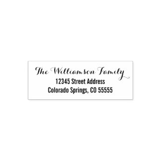 Two Fonts - Return Address Self-Inking Stamp