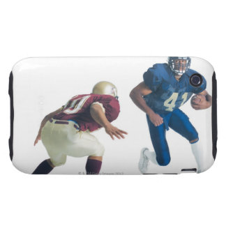 two football players from opposing teams are tough iPhone 3 case