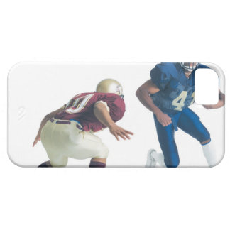 two football players from opposing teams are case for the iPhone 5