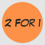 Two for One Round Stickers