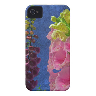 Two Foxglove flowers with textured background iPhone 4 Cover