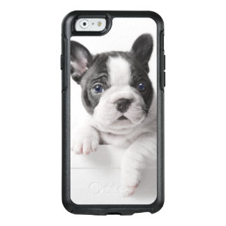 Two French Bulldog Puppies Peer Over A Wall OtterBox iPhone 6/6s Case