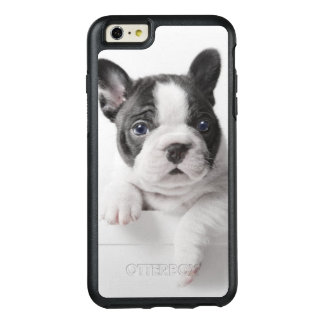Two French Bulldog Puppies Peer Over A Wall OtterBox iPhone 6/6s Plus Case