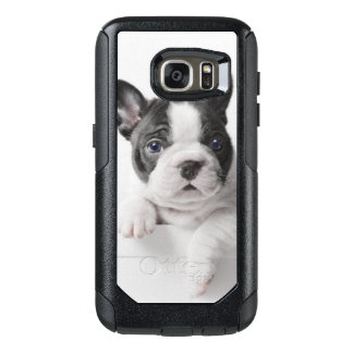 Two French Bulldog Puppies Peer Over A Wall OtterBox Samsung Galaxy S7 Case