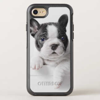 Two French Bulldog Puppies Peer Over A Wall OtterBox Symmetry iPhone 8/7 Case