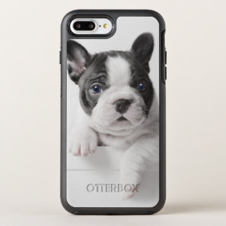 Two French Bulldog Puppies Peer Over A Wall OtterBox Symmetry iPhone 8 Plus/7 Plus Case