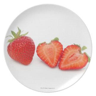 Two fresh, ripe, home grown, organic plate