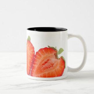 Two fresh, ripe, home grown, organic Two-Tone coffee mug