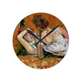Two Friends by Henri de Toulouse-Lautrec Wall Clocks