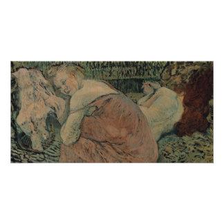 Two Friends by Henri de Toulouse-Lautrec Customized Photo Card