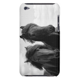Two Friesian stallions. iPod Touch Covers