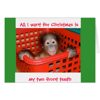 Two Front Teeth for Christmas Note Card
