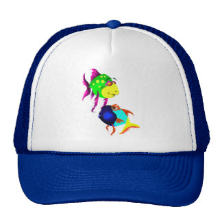 Two Funny Fish Hat