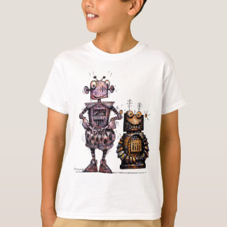 Two Funny Kid's Robots Tee Shirt