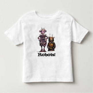 Two Funny Little Robots Toddler T-Shirt