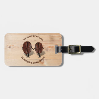 Two Funny Roasted Coffee Beans As Boy And Girl Luggage Tag