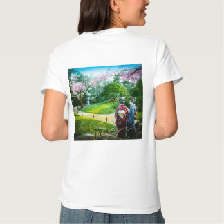Two Geisha in a Public Garden in Old Japan Vintage T Shirt