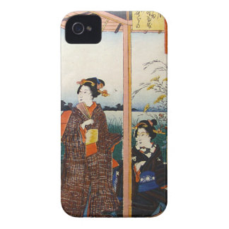 Two Geishas Japanese Traditional Woodblock Ukiyo-E iPhone 4 Cover