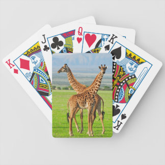 Two Giraffes Bicycle Playing Cards