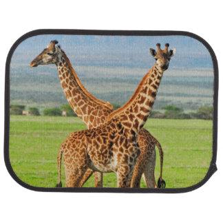 Two Giraffes Car Mat