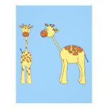 Two Giraffes. Cartoon Flyer