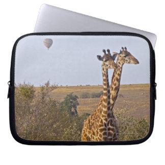 Two Giraffes (Giraffa camelopardalis), Masai Laptop Sleeve