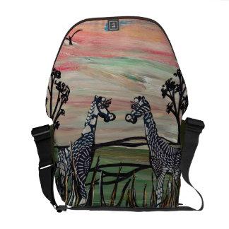 Two Giraffes Messenger Bag